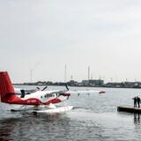 Danmark har fået en vandflyrute mellem Århus og København. 45 minutter hver vej.. (Foto: Asger Ladefoged/Scanpix 2016)
