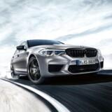 Det er ingen nyhed, at den firehjulstrukne BMW M5 kan lave dækrøg med muligheden for at koble forakslen helt fra - men det er til gengæld Competition-udgaven med 25 hk ekstra og en hel del tekniske ændringer