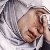 Detalje af et maleri af Rogier van der Weyden.