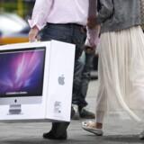Især salget af stationære PCer er gået tilbage, ligesom mange virksomheder venter lidt endnu med at skifte deres udstyr ud. Arkivfoto: Liu Jin, AFP/Scanpix