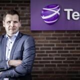Morten Bentzen, topchef i Telia Danmark, lover ny fremgang igen allerede fra indeværende kvartal trods den fortsat hårde konkurrence på især mobilmarkedet. Arkivfoto: Thomas Lekfeldt