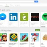 Google Play er normalt adgangsvejen til mobilapplikationer, men nu eksperimenterer Google med, at man også skal kunne finde og hente dem gennem Googles almindelige søgeapp.