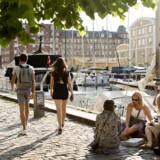 København ligger nummer 14 på den samlede liste over europæiske byer. Her ses Christianshavns Kanal.