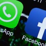 Beskedapplikationen WhatsApp, som Facebook købte sidste år, har på tre måneder fået endnu 100 millioner nye brugere. Arkivfoto: Gabriel Bouys, AFP/Scanpix