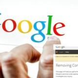 Nu kan man bede om at få fjernet bestemte sider fra resultatlisten hos internetgiganten Google. Det kræver en EU-dom nemlig. Collage (foto: Philippe Huguen, AFP/Scanpix)