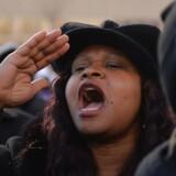 Debatten om racisme i det amerikanske politi raser efter flere skudepisoder, hvor sorte er belvet dræbt. Her er det en demonstration mod racisme i St. Louis, Missouri, i januar i år.