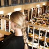 ARKIVFOTO 2015 af studerende i læsesalen på Statsbiblioteket i Aarhus.