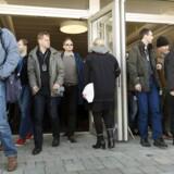 I marts blev medarbejderne hos Sony Mobile i Lund i Sverige på et stormøde varslet om den kommende fyringsrunde. Nu kommer den, og 975 stillinger forsvinder. Arkivfoto: Ola Torkelsson, TT/Reuters/Scanpix