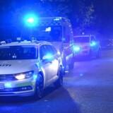 Politiet var til stede efter et skyderi i København ved Ragnhildgade, mandag den 16. oktober 2017.