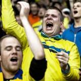 I går aftes slog Brøndby IF næsten sensationelt den tyske hovedstadsklub Hertha Berlin ud af Europa League med en 3:1-sejr på Brøndby Stadion, og morgenen efter var Brøndbyernes IF-aktien en lignende succeshistorie. Arkivfoto.