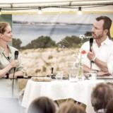 Præsident for Danmarks Naturfredningsforening Maria Gjerding sammen med miljø- og fødevareminister Jakob Ellemann-Jensen til arrangementet »Hvad skal vi med naturen?«