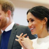 Prins Harry og Meghan Markle i Belfast, Nordirland, den 23. marts 2018. Joe Giddens/Pool via REUTERS