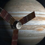 En animation af rumsonden i kredsløb om Jupiter.