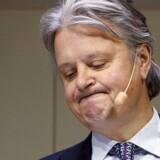 En større gruppe kunder hos Nordea er kommet i klemme med de spanske skattemyndigheder, efter at de har fulgt Nordeas anbefaling til at undgå arveskat. Her er det Nordea's administrerende direktør Casper von Koskull.