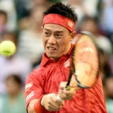 Japans Kei Nishikori er ny mand i top-fire hos tennisherrerne. Scanpix/Toru Yamanaka