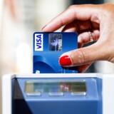 I gennemsnit blev alle Visa/Dankort sat i terminalerne 238 gange sidste år. Foto: Nikolai Linares, Scanpix.