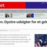 Annegrethe Rasmussen er kommet i modvind med sin klumme »Rasmussen: Dystre udsigter for et grimt politisk 2016« bragt på netmediet Altinget 11. december.