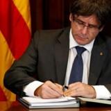 Den catalanske regionale præsident Carles Puigdemont.