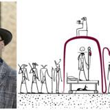 »Dobbeltsynet, der forbinder det ægyptiske gravkammer med den danske hospitalsstue, er knivskarpt, sammenskrivningen af de to fortællinger er suverænt gennemført, og forfatterens sproglige register er imponerende i sin spændvidde,« skriver Jørgen Johansen i sin anmeldelse. Foto: Robin Skjoldborg / PR og Ivan Micics illustration til bogens forside.