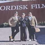 En Olsen Banden-udstilling i Nordisk Film studierne i Valby er søndag eftermiddag blevet udsat for et tyveri. Tyven har stjålet Egon Olsens brune pakke med planer, som lå i Yvonnes stue i udstillingen. Arkivfoto.
