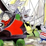 """Alfepigen Cirkeline er ikke blevet en dag ældre, selv om hun kom til verden i 1966. Hun er stadig så lille, at hun kan sove i en taendstikaeske, og hendes venner er stadig musene Frederik og Ingolf. Fredag får filmen """"Cirkeline - storbyens mus"""" premiere, og en ny generation af børn kan glæde sig over, at Cirkeline nu er gået til filmen. NORDFOTO 1998"""