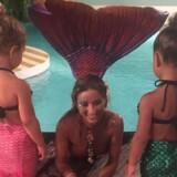 Kim Kardashians datter og kusine satte en havfruebølge i gang efter dette Instagrambillede fra sommeren 2015. Foto: Privatfoto.
