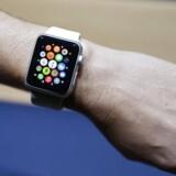 Apple fremviste i september 2014 sit Apple Watch, som især er tænkt til at skulle måle sundhed men nu også vil kunne udvides til at blive fjernbetjening for et actionkamera. Arkivfoto: Monica Davey, EPA/Scanpix