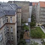 Lejlighed med tagterrasse i Ribegade. Her udsigt til et klassisk gårdmiljø.