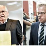 Michael Christiansen, formand for Vederlagskommissionen, og Venstre-manden Carl Holst.