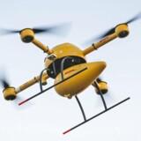 Her er det dronen, som DHL tester til at levere pakker med medicin til den lille tyske ø Juist.