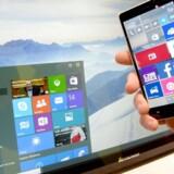 Microsoft gør klar til en fødselsdagsopdatering til sommer af Windows 10, nemlig et år, efter at styresystemet udkom. Arkivfoto: Peter Steffen, EPA/Scanpix