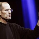 Apple-topchef Steve Jobs klagede til Google-topchef Eric Schmidt over, at en personalemedarbejder havde forsøgt at rekruttere en Apple-ansat til Google. Arkivfoto: Kimihiro Hoshino, AFP/Scanpix