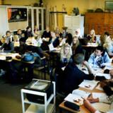 En klasse med 38 elever på Metropolitanskolen på Nørrebro.