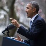 Den amerikanske præsident glæder sig over torsdagens rammeaftale med Iran om landets omstridte atomprogram. Hvis aftalen overholdes, vil Iran ikke kunne lave en atombombe, siger Obama.