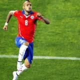 Arturo Vidal jubler over sin scoring mod Ecuador.