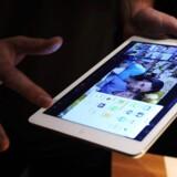 Den nye iPad Air fra Apple vises frem i London, efter den blev præsenteret tirsdag aften i San Fransisco af teknologiselskabet Apple.