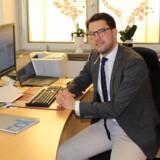 Sverigedemokraternes leder, Jimmie Åkesson, i sit kontor i Riksdagen. Han er født i Sölvesborg i Blekinge. Foto: Mikkel Andersson