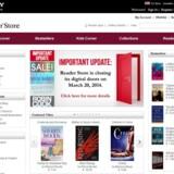 Sony lukker sit e-bogssalg gennem Reader Store i USA og Canada 20. marts.