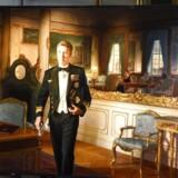 Kronprinsparret deltager i afsløring af et nyt portræt af Kronprinsen malet af Ralph Heimans på Det Nationalhistoriske Museum på Frederiksborg Slot i Hillerød, torsdag den 24. maj 2018.. (Foto: Keld Navntoft/Ritzau Scanpix)