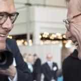 Generalforsamling i Mærsk i Bella Centret mandag d. 31. marts 2014. Administrerende direktør Nils Smedegaard Andersen (th) og bestyrelsesformand Michael Pram Rasmussen. (Foto: Søren Bidstrup/Scanpix 2014)