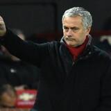 Manchester United har skrevet kontrakt med manageren José Mourinho indtil sommeren 2020, oplyser klubben. Scanpix/Oli Scarff