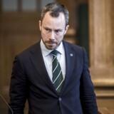 Miljøminister Jakob Ellemann-Jensen (V) under den udvidet spørgetime i Folketingssalen på Christiansborg i København, tirsdag den 8. maj 2018.