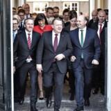 Mandag d. 28. november 2016 præsenterede statsminister Lars Løkke rasmussen sin nye regering for dronningen på Amalienborg.