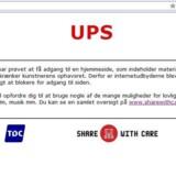 Forsøger man at tilgå den dømte svenske Pirate Bay-hjemmeside fra Danmark, mødes man af dette skilt, fordi alle danske internetudbydere blokerer for adgangen til siden. Her henvises til lovlige alternativer.