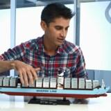 Lego lancerede i 2014 Triple-E bygget i de populære Lego-klodser, og interessen fra køberne var overvældende, hvilket betød at Lego hurtigt måtte melde udsolgt. Legos model af Triple-E består af 1.518 legoklodser og måler 65 cm i længden og 9 cm i bredden. Der er flere specialdesignede enheder som eksempelvis guldmalede propeller, 8-cylindrede motorer og aftagelige redningsbåde. Desuden har Lego-modellen lige som det virkelige skib en mønt gemt under skibets formast som en lykkemønt.