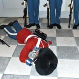En af livgardens soldater besvimede og faldt om under ceremonien på Christiansborg Slot. Han kom dog hurtigt til sig selv igen.