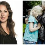 Tv: Journalist Nathalie Ostrynski. Th: Foto fra børnehave.