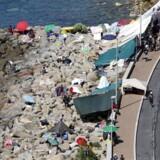 Både Tyskland og Italien øger grænsekontrollen ved de franske grænser, blandt andet her ved Ventimiglia.
