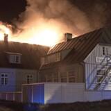 Svinkløv badehotel er natten til d. 26. september brændt ned til grunden. Svinkløv badehotel blev bygget i 1925 og var Danmarks største træhus. (Foto: Rasmus Skaftved/Scanpix 2016)