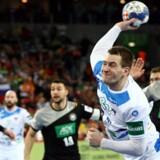 Slovenien følte sig bortdømt i kampen mod Tyskland, der sluttede 25-25. Reuters/Antonio Bronic